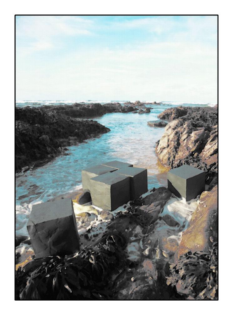 Cubic or not Cubic - Installation Artistique en Bretagne (France). Road Project Variation 11.